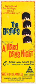"Movie Posters:Rock and Roll, A Hard Day's Night (United Artists, 1964). Australian Daybill (13""X 30"").. ..."
