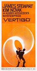 "Movie Posters:Hitchcock, Vertigo (Paramount, 1958). Three Sheet (40.5"" X 78"").. ..."