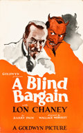 "Movie Posters:Drama, A Blind Bargain (Goldwyn, 1922). Window Card (14"" X 22"").. ..."