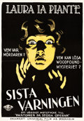 "Movie Posters:Crime, Last Warning (Universal, 1929). Swedish One Sheet (27.5"" X 39.5"")....."