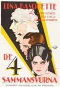 "Movie Posters:Crime, Come Across (Universal, 1929). Swedish One Sheet (27.5"" X 39.5"").Eric Rohman Artwork.. ..."