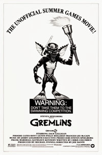 """Gremlins (Warner Brothers, 1984). One Sheet (27"""" X 41"""") Olympic Style"""