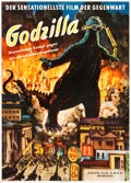 "Movie Posters:Science Fiction, Godzilla (Atrium Film, 1956). German A1 (24"" X 34"").. ..."