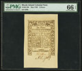 Colonial Notes:Rhode Island, Rhode Island May 1786 6d PMG Gem Uncirculated 66 EPQ.. ...