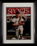 Baseball Collectibles:Photos, Ted Williams Signed Upper Deck Authenticated Display....