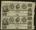 Obsoletes By State:Ohio, Franklin, OH- Franklin Silk Company $5-$5 18__ Uncut Pair. ...
