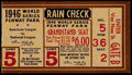 Baseball Collectibles:Tickets, 1946 World Series Game 5 Ticket Stub. ...