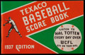 Baseball Collectibles:Publications, 1937 Texaco Baseball Score Book - With Cubs and White Sox Pictured....
