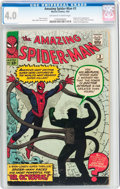 Silver Age (1956-1969):Superhero, The Amazing Spider-Man #3 (Marvel, 1963) CGC VG 4.0 Off-white to white pages....