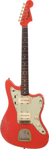 Musical Instruments:Electric Guitars, 1964 Fender Jazzmaster Fiesta Red Solid Body Electric Guitar,Serial # L49557....