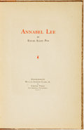 Books:Fiction, Edgar Allen Poe. LIMITED. Annabel Lee. Los Angeles:Privately Printed for William Andrews Clark, Jr. by Chester Troa...