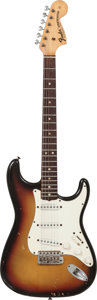 Musical Instruments:Electric Guitars, 1969 Fender Stratocaster Sunburst Solid Body Electric Guitar,Serial # 279601....