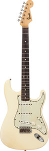 Musical Instruments:Electric Guitars, John Entwistle's 1965 Fender Stratocaster White Solid Body Electric Guitar, Serial # L76785....