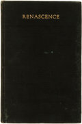 Books:Fiction, Edna St. Vincent Millay. Renascene and Other Poems. NewYork: Mitchell Kennerley, 1917....