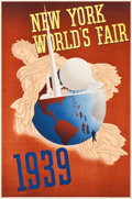 "Movie Posters:Miscellaneous, New York World's Fair (Grinnell Litho Co., 1939). Travel Poster(20"" X 30"").. ..."