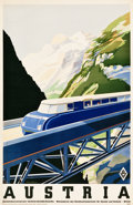 "Movie Posters:Miscellaneous, Austria by Rail (1930s). Travel Poster (34"" X 27"").. ..."