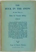 Books:Fiction, [Featured Lot]. Edna St. Vincent Millay. INSCRIBED. The Buck inthe Snow. New York and London: Harper & Brothers...