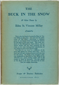 [Featured Lot]. Edna St. Vincent Millay. INSCRIBED. The Buck in the Snow. New York a