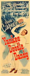 "Movie Posters:Musical, Yankee Doodle Dandy (Warner Brothers, 1942). Linen Finish Insert(14"" X 36"").. ..."