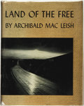 Books:Americana & American History, Archibald MacLeish. SIGNED. Land of the Free. New York:Harcourt, Brace and Company, [1938]....