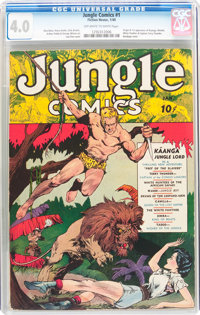 Jungle Comics #1 (Fiction House, 1940) CGC VG 4.0 Off-white to white pages