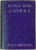 Books:Literature Pre-1900, D. H. Lawrence. Sons and Lovers. New York: MitchellKennerley, 1913....