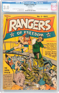 Golden Age (1938-1955):War, Rangers Comics #1 (Fiction House, 1941) CGC GD/VG 3.0 Whitepages....