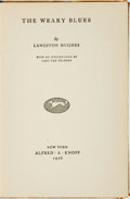 Books:Fiction, Langston Hughes. The Weary Blues. New York: Alfred A. Knopf,1926....
