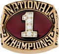 Football Collectibles:Others, 1985 Oklahoma Sooners National Championship Ring....