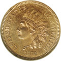 Proof Indian Cents: , 1872 1C PR65 Red NGC. While high quality proofs of the 1872 are more plentiful that similarly dated business strikes, the f...