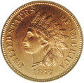 Proof Indian Cents: , 1877 1C PR66 Red PCGS. With a mintage of at least 900 pieces, the proof 1877 Indian Head cent is comparable in overall rari...