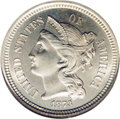 Proof Three Cent Nickels: , 1873 3CN Closed 3 PR67 NGC. A pristine example that retains virtually perfect surfaces that lack the specks and spots that ...