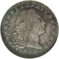 Early Half Dimes: , 1795 H10C AU58 NGC. V-6, LM-9, R.4. Medium sea-green and dove-graycolors embrace this impressive Borderline Uncirculated F...