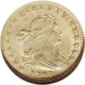 Early Half Dimes: , 1797 H10C 15 Stars MS63 NGC. V-2, LM-1, R.3. Similar to its halfdollar counterpart, the Draped Bust, Heraldic Eagle half d...
