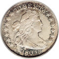 Early Dimes: , 1805 10C 4 Berries AU55 PCGS. JR-2, R.2. The last two issues of theDraped Bust dime series, dated 1805 and 1807, create so...