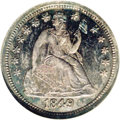 Proof Seated Dimes: , 1849/8 10C PR65 NGC. Ex: Eliasberg. Breen-3256. Greer-103. A magnificent Gem proof example of this rare issue. Dark blue an...