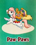 Animation Art:Production Cel, Paw-Paws Color Model/Publicity Cel (Hanna-Barbera, 1985)....