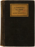 Books:Literature 1900-up, Ernest Hemingway. A Farewell to Arms. New York: CharlesScribner's Sons, 1929....