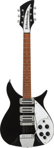 Musical Instruments:Electric Guitars, 1989 Rickenbacker 325 Black Solid Body Electric Guitar, Serial #I27248....