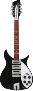 Musical Instruments:Electric Guitars, 1999 Rickenbacker '64 Re-Issue 325-12 Black 12-String Solid BodyElectric Guitar, Serial # 9948847....