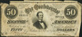 Confederate Notes:1864 Issues, T66 $50 1864 PF-12 Cr. 501.. ...