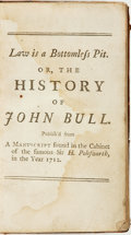 Books:Literature Pre-1900, [Jonathan Swift]. Miscellanies. The Second Volume. Law isa Bottomless Pit. Or, the History of John Bull. ...