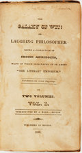 Books:Literature Pre-1900, [Humor]. James Reed and David Claypoole Johnston. The Galaxy of Wit: or Laughing Philosopher..., Vol. I. Boston:...