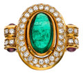 Estate Jewelry:Rings, Emerald, Ruby, Diamond, Gold Ring. ...