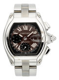 Estate Jewelry:Watches, Cartier Gentleman's Stainless Steel Roadster Automatic Chronograph Watch. ...