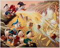 Memorabilia:Disney, Carl Barks Dam Disaster at Money Lake Signed Limited Edition Lithograph Print #219/345 (Another Rainbow, 1986).... (Total: 2 Items)