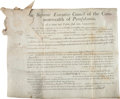 Autographs:Statesmen, Benjamin Franklin Document Signed....