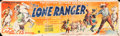 "Movie Posters:Serial, The Lone Ranger (Republic, 1938). Studio Issued Cloth Banner (35"" X120"").. ..."