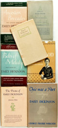 Books:Fiction, [Emily Dickinson]. Group of Seven Titles Composed of Biographiesand Poetry. Various publishers and dates.... (Total: 7 Items)