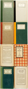 Books:Fiction, Amy Lowell. Group of Eight Titles, One with AUTOGRAPH LETTER.Various publishers and dates.... (Total: 8 Items)